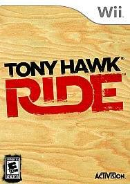 Tony Hawk Ride (Wii, 2009) GAME + SKATEBOARD + DONGLE, COMPLETE