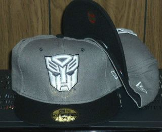 Transformers Autobot 7 3/4 New Era Hat Gray/Black/White Fitted 59FIFTY