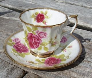 Staffordshire Crownford Queens Fine Bone China Cup & Saucer, England