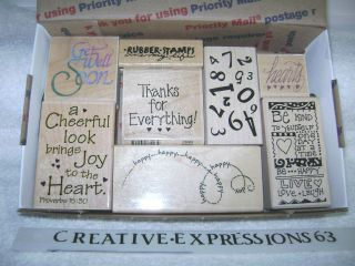 Lot Of Rubber Stamps Verses Sayings Theme Excellent Condition Various