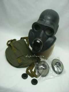 russian soviet black gas mask PBF medium (with EO19 cheek filters)