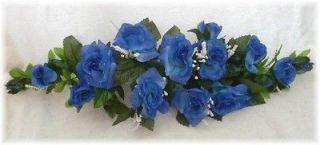 ROSE SWAG ROYAL BLUE Wedding Table Centerpiece Silk Flowers Arch