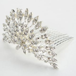 Fashion Rhinestone Crown Headband Hair Comb Pin Tiara Wedding Bridal