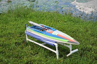 Custom High Performance Gas RC Boat V Hull w Zenoah RMCK Evo Head! RTR