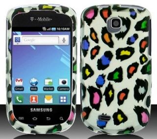 Samsung Galaxy Mini S5570 SGH S5570 COLORFUL LEOPARD Cellphone Case