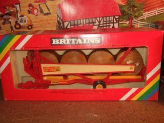 1980,s Britains Krone Benac 3000 Round Bale Trailer MIB