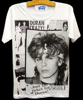 DURAN DURAN 80s Pop Rock Retro VTG Tour T Shirt S/M