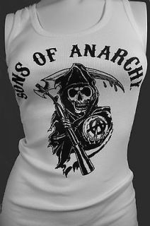 NEW FOR 2012 SONS OF ANARCHY CLASSIC REAPER TANK TOP GIRLS SOA BIKER