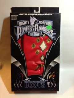 Mighty Morphin Power Rangers the Movie Sound Effect Boots Red Ranger