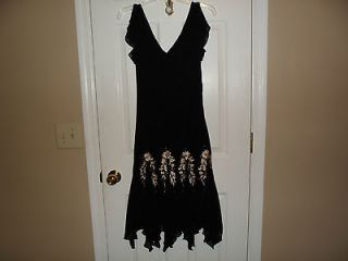 Womens S.L. Fashions Black Sequined Beaded Dress Size 8/10*****LN