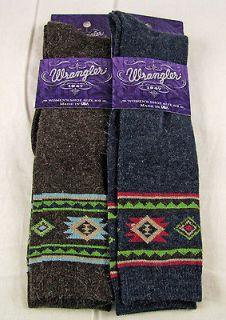 Womens Wrangler Angora Aztec Boot Socks Made In U.S.A Sz Medium Shoe