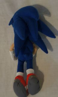 Soft Stuffed Plush Blue Tan Sonic The Hedge Hog Character Doll Toy