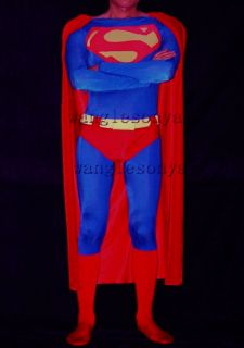 Selling Full Body Lycra Spandex zentai costume new style Superman suit