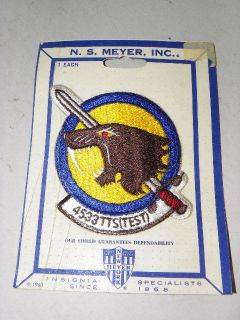 1963 USAF U.S.Air Force 4533TTS (TEST) Squadron Patch UNUSED on CARD