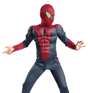 Kids Spider Man Movie Boys Muscle Halloween Costume