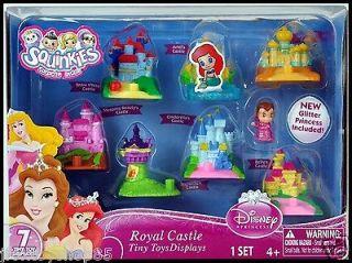 2012 *Squinkies* Disney Princess ROYAL CASTLE   7 Toy Displays