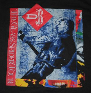 DAVID BOWIE THE GLASS SPIDER NORTH AMERICAN TOUR T  SHIRT 1987 XL