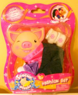 NEW Pig Teacup Piggies Fashion Outfit Set Clothes Pink Purple Blue