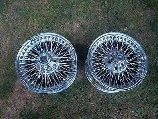 14 x 7 Vintage Chrome Dayton FWD Wire Wheels Rims 5x100