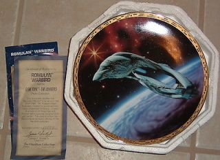 Hamilton Collection Star Trek The Voyagers Plate U.S.S. Enterprise NCC