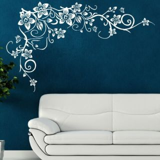 wall butterfly vine art stickers decals stencils large graphics bv1