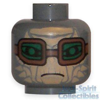Star Wars Lego Head   Hondo Ohnaka with Goggles   Double Sided *NEW*