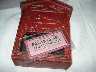GAMEWELL F. A. Tel. CO. AUXILIARY Box GLASS PANEL & STICKER Fire Alarm