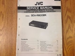 service manual for JVC Stereo graphic equalizer SEA RM20BK