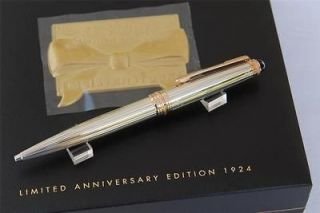 75 ANNIVERSARY SILVER ROSE GOLD PINSTRIPE BALLPOINT PEN LIMITED, BNIB