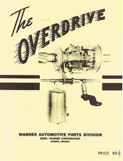 Willys Overdrive Transmission Service Manual 1948 1949 1950 1951