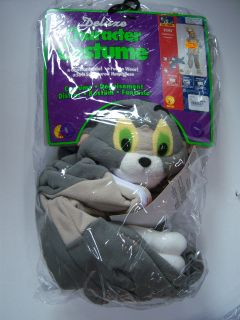 NWT Tom & Jerry Cartoon Plush Fleece Tom Cat Childs Costume S 4/4T 6