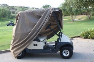 Golf Cart Storage Cover Fit EZ Go, Club Car, Yamaha Cart.Taupe