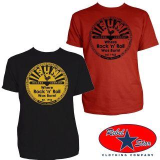 Sun Records Logo Mens T Shirt Rockabilly Retro 50s 60s Vintage Cool