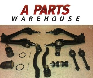 10 SUSPENSION PARTS UPPER LOWER BALL JOINT CONTROL ARM TIE ROD SWAY