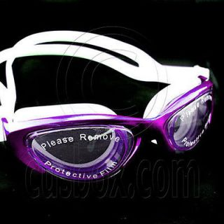 Anti Fog UV Protect Silicone Swimming Goggles 2120 PURPLE Mirror