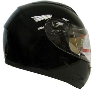 DUAL SHIELD FULL FACE MOTORCYCLE SPORT HELMET SMOKE SUN VISOR ~XL