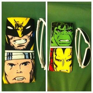 The Avengers eyeglasses sunglasses case large Iron Man Hulk Thor