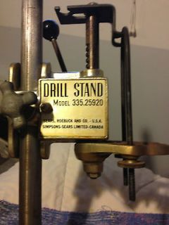 ELECTRIC HAND DRILL PRESS STAND 335.25920 4 TABLE TOP WORKBENCH