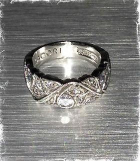 Tacori Sterling Epiphany Diamonique Floral Band Ring Size 6