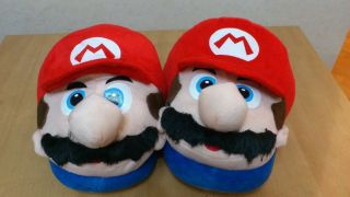 New Super Mario Bros Cosplay Adult Plush Rave Shoes Slippers 11 Mario