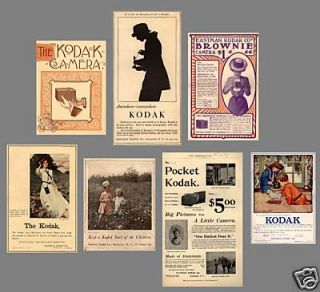 Antique Camera Collection KODAK ADS 1886 1929   MANY