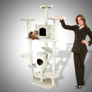 80 Cat Tree Condo Furniture Scratch Post Pet House Large Kitten