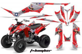 AMR RACING GRAPHICS KIT YAMAHA RAPTOR 350 STICKERS BOMB