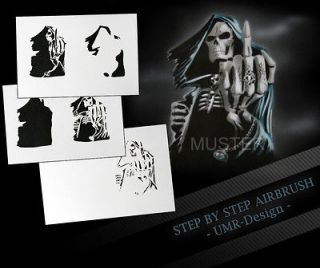 Airbrush Stencil Template 5 Steps AS 117 M Size 5,11 x 3,95