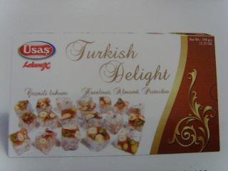 Turkish Delight With Hazelnut Almond Pistachio Lokum 350gr