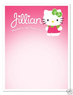 HELLO KITTY Birthday Party THANK YOU NOTES