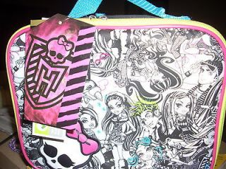 MONSTER HIGH LUNCH BOX BAG ~ INSULATED WITH TOTE HANDLE~ NEW WITH TAGS