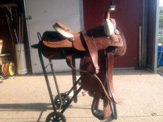 Excellent Condition Hereford Tex Tan Roping Saddle