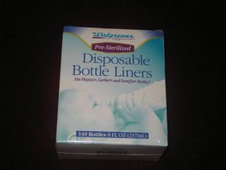 Pre Sterilized Disposable Baby Bottle Liners 8 FL Oz 140 Bottles NEW