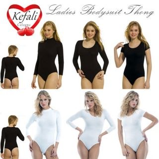 Kefali   Womens Cotton Bodysuit Thong, Leotard String, Underwear   S M